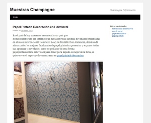 muestras champagne